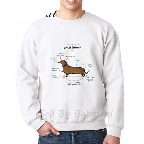 Anatomy Of A Dachshund Dog Sweatshirts - Men's Crew Neck Sweatshirts