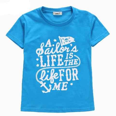 A Sailor's Life Is The Life For Me Baby Kid Child Toddler Newborn T-shirt - Cozzoo