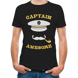 Captain Awesome - Men's Fishing/Sailing Tee - Cozzoo