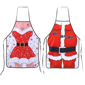 Christmas Santa Claus Cute Funny Kitchen Apron Patterns Cooking Chef - Cozzoo