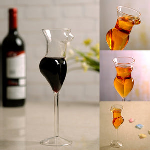 Sexy Female Body Form Cute Drinking Wine Glasses Champagne Cocktail Glass Goblets - Cozzoo