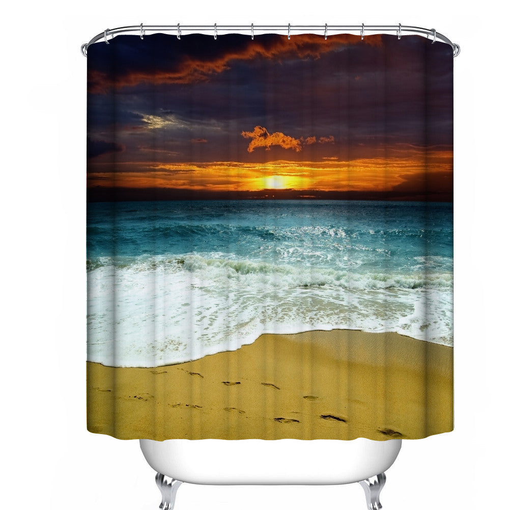 Custom Fabric Waterproof Bathroom Shower Curtain - Cozzoo