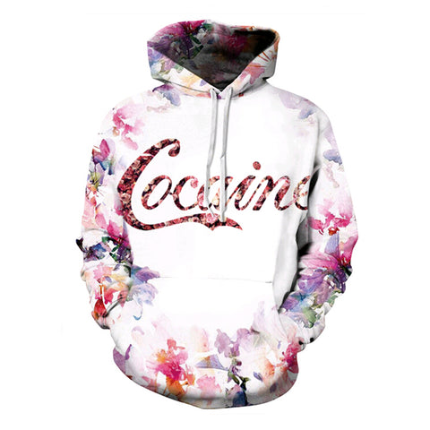 Cocaine Flowers Hoodies All Over Print - Cozzoo