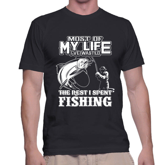 Most Of My Life I've Wasted The Rest I Spent Fishing - Men's Tee - Cozzoo