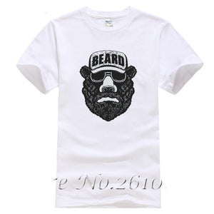 Bear Beard Printed T-Shirt - Men's Novelty Casual T-Shirts - Cozzoo
