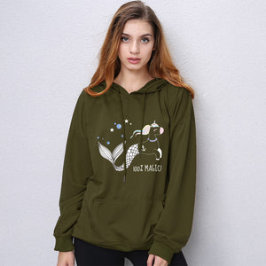 Mermaid Unicorn 100% Magic - Women Hoodie Sweatshirt Sweater - Cozzoo