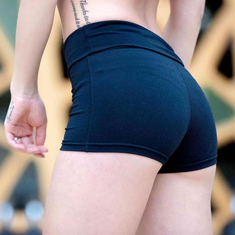 Quick-drying Women Gym Compression Booty Shorts Spandex Ladies Volleyball Running lycra Athletic - Cozzoo