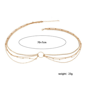 Waist Beads Minimalist Belly Body Chains  Bohemian Copper Gold Color Jewelry - Cozzoo