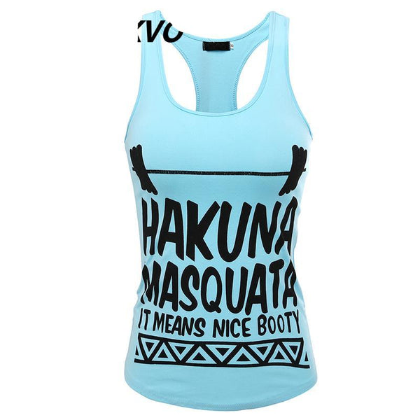 Hakuna Masquata It Means Nice Booty Top - Ladies Sexy Tank Top - Cozzoo