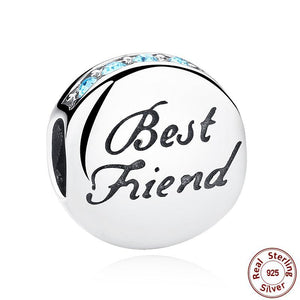 Best Friend Jewelry - BFF - Friendship - Silver Beads Charms Bracelet and Necklace Pendants - Cozzoo