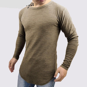 Slim Fit Men Longline Shirts Extra Long Oversized Tall Tees - Cozzoo