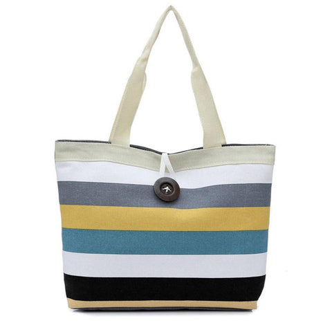 Color Stripes Handbag/Shoulder Shoulder Beach Tote Purse Canvas Handbags Totes Bags - Cozzoo