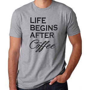 Life Begins After Coffee - Men's T-shirt - Cozzoo