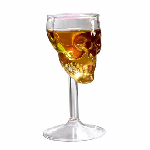 75ML Skull Head Transparent Whiskey Cute Drinking Wine Glasses Champagne Cocktail Glass Goblets - Cozzoo