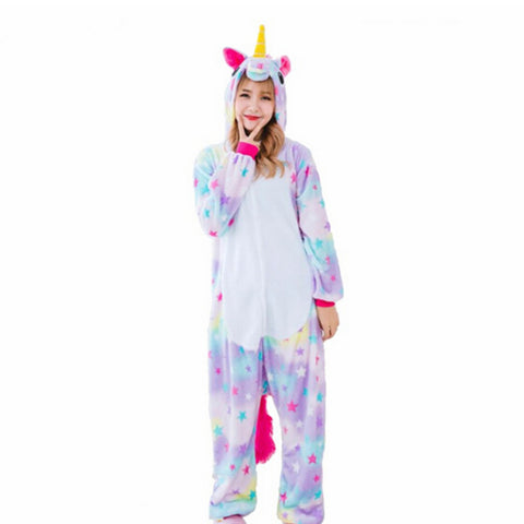 Stitch Unicorn Pajamas Adult Hoodie Onesie - Cozzoo