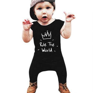c221c6f68771 Rule The World Crown Infant Baby Overall Jumpsuit - Cozzoo