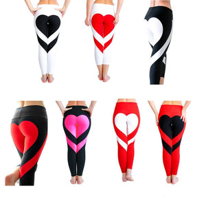 Heart Behind - Plus Size Women's Slim Hi-Waist Leggings - Various Styles - Cozzoo