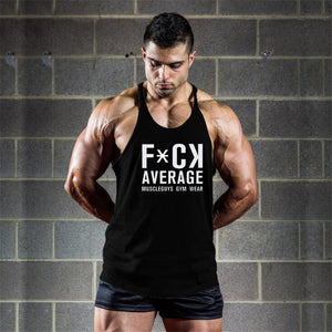 Fuck Average Muscle Guys Gym Wear Tank Tops - Men's Sleeveless Tops - Cozzoo