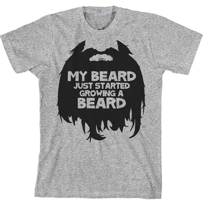 My Beard Just Started Growing A Beard - Men's Tee - Cozzoo