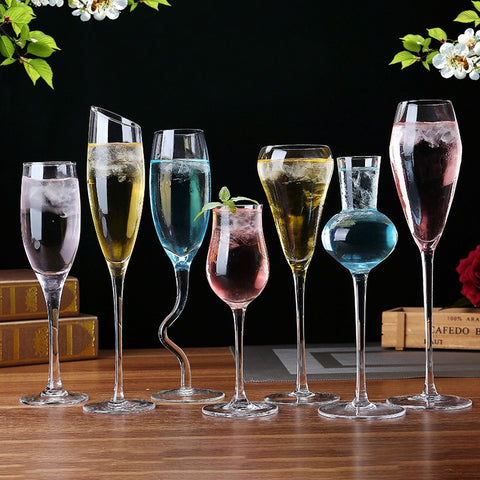 Various Style Beer Whiskey Cute Drinking Wine Glasses Champagne Cocktail Glass Goblets - Cozzoo