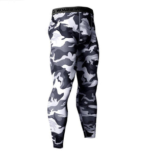 14 Colors Camouflage Compression Male Running Tights - Men Running Pants - Cozzoo