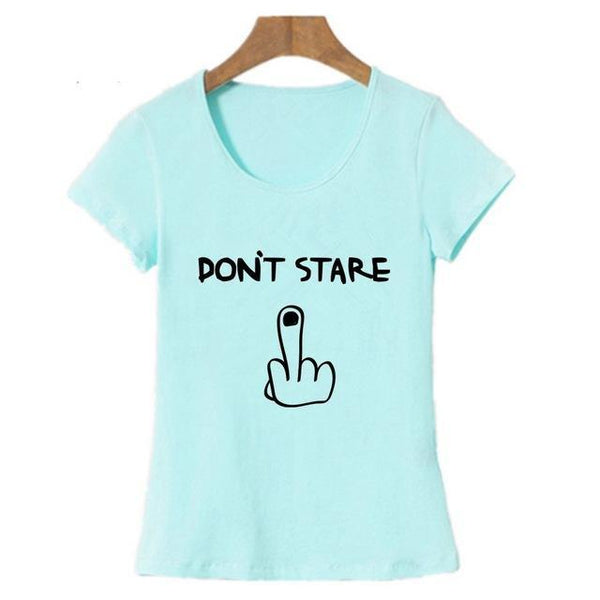 DON'T STARE Middle Finger T-Shirt - Cozzoo