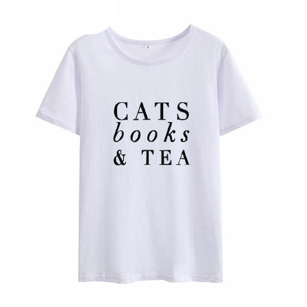 Cats Books & Tea - Readers/Reading Women's T-shirt - Cozzoo