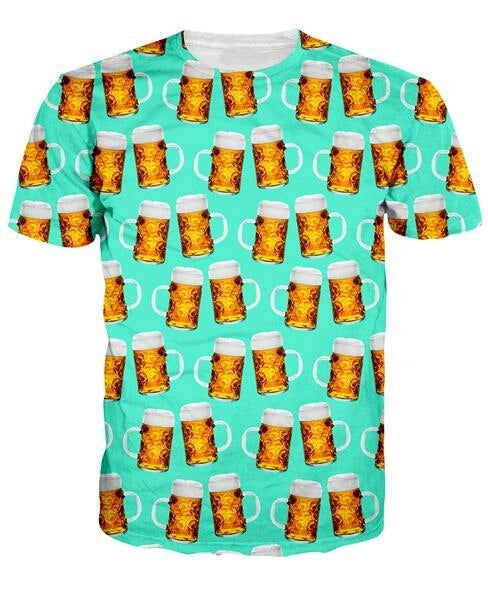 Beer Mugs - Drinking Unisex Tee - All Over Print - Cozzoo