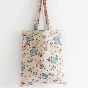 Blue Pink And Red Dandelion Flowers Handbag/Shoulder Shoulder Beach Tote Purse Canvas Handbags Totes Bags - Cozzoo