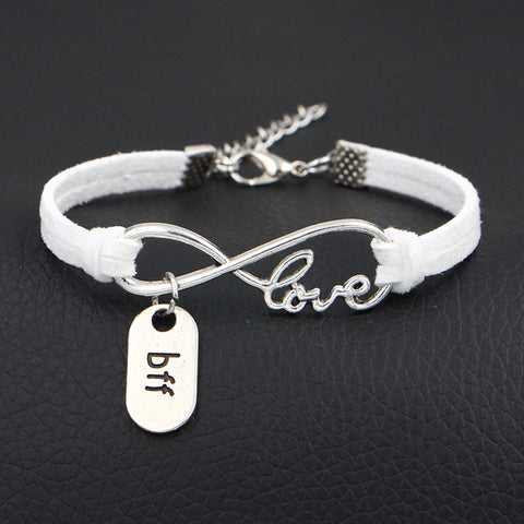 Best Friend Jewelry - BFF - Friendship - Infinity Love Charm Bracelets - Cozzoo