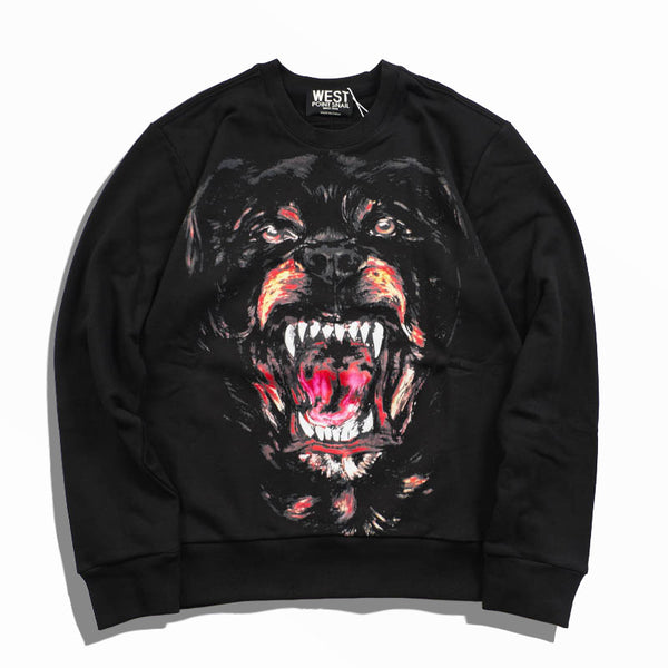 Growling Rottweiler Dog Sweatshirts - Men's Sweatshirts - Cozzoo