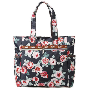 Beach Canvas Shoulder Beach Tote Purse Canvas Handbags Totes Bags - Red Floral - Women's Shoulder Bags - Cozzoo