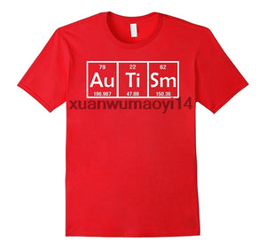 Autism Periodic Table Awareness T-Shirt - Dad Mom Tee - Cozzoo