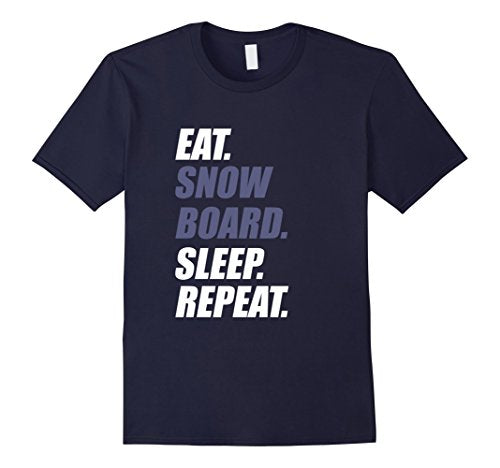 Eat Snowboard Sleep Repeat - Men T-Shirt - Cozzoo