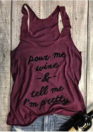 Pour Me Wine Sleeveless Shirt- Women's Burgundy Tank Top - Cozzoo
