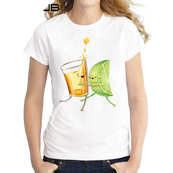 Tequila And Lime Dancing Funny T-Shirt - Cozzoo