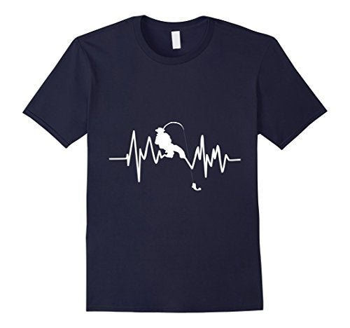 Fishing Heartbeat - Men's Tee - Cozzoo