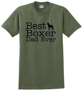Best Boxer Dad Ever- Dogs T-shirt - Cozzoo