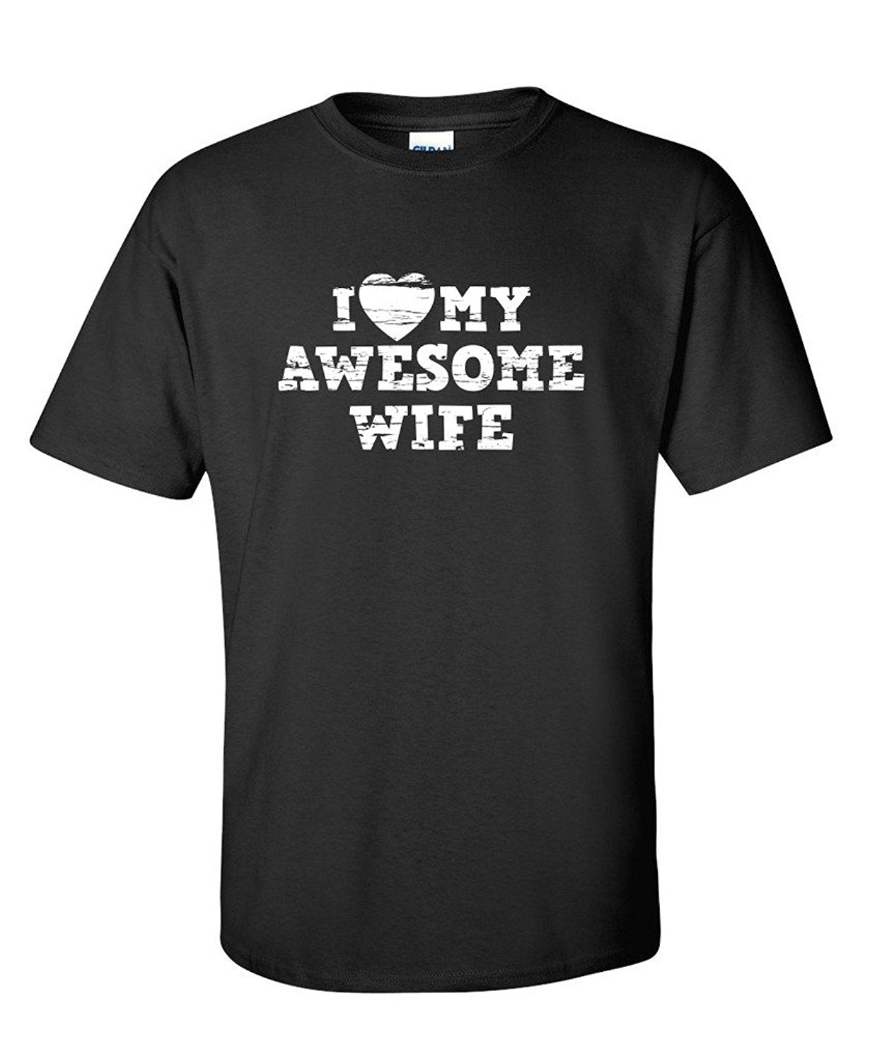 I Love My Awesome Wife - Husband T-shirt - Cozzoo