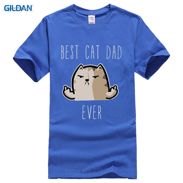 Best Cat Dad Ever T-shirt - Cozzoo