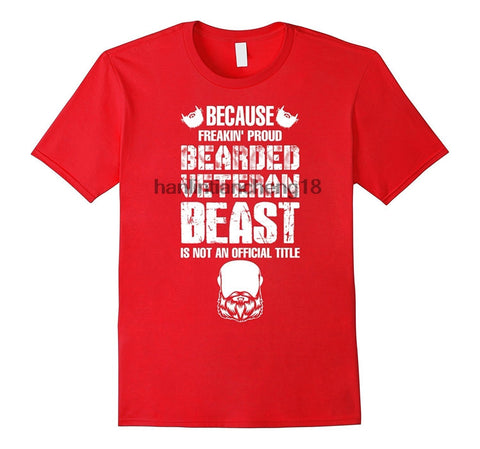 Proud Bearded Veteran Beast - Men's T-Shirt - O-neck - Cozzoo
