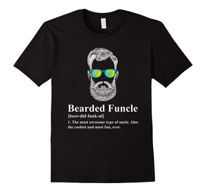 Bearded Funcle T-Shirts - Men's Crew Neck Novelty Top Tees - Cozzoo