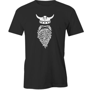 Beard Viking Printed T-Shirt - Men's Novelty T-Shirt - Cozzoo