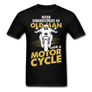 Never Underestimate An Old Man With A Motorcycle - Grandpa T-shirt - Cozzoo