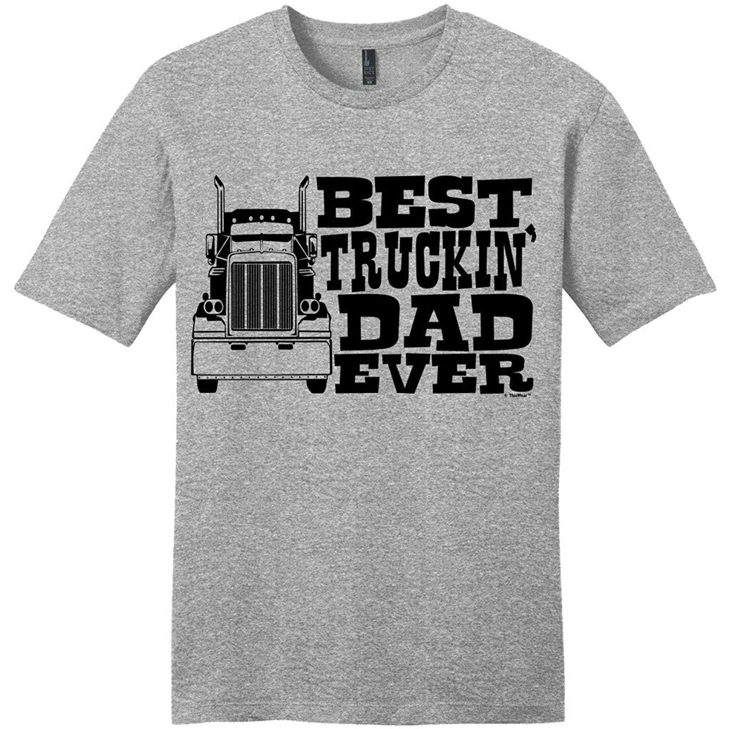 Best Truckin' Dad Ever T-shirt - Truck Driver Tee - Cozzoo