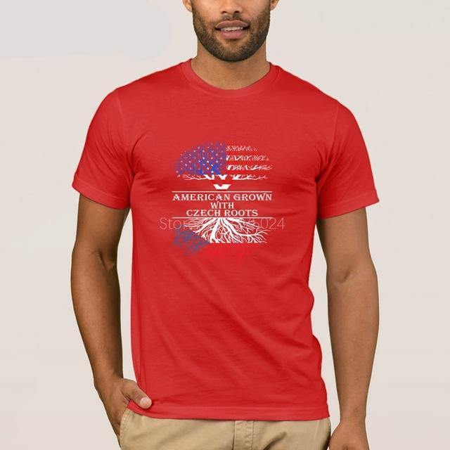 American Grown With Czech Roots Country T-Shirt - Cozzoo