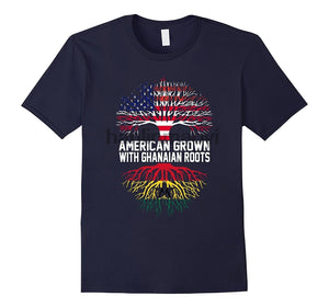 American Grown with Ghanaian Roots Ghana T-Shirt - Cozzoo
