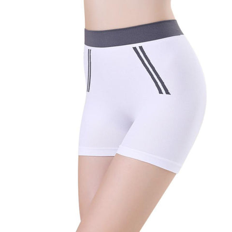 White Women Gym Compression Booty Shorts Spandex Ladies Volleyball Running lycra Athletic - Cozzoo