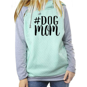 Hashtag Dog Mom Hoodies - Ladies Novelty Pullover Hoodie - Cozzoo