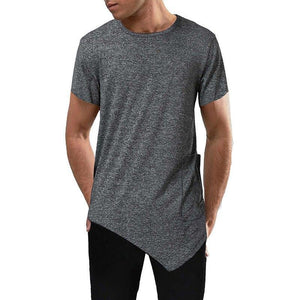 Silm Fit Side Pocket Men Longline Shirts Extra Long Oversized Tall Tees - Cozzoo
